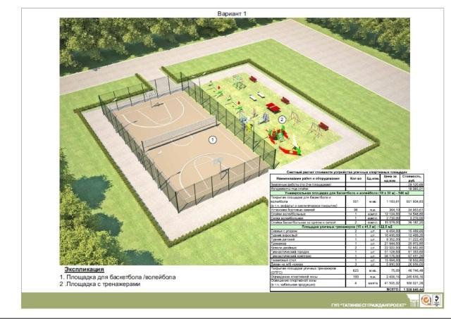 Схема спортивных площадок